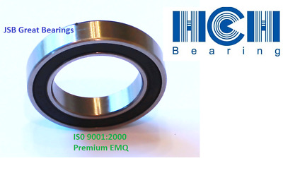 2x 6904-2RS Ball Bearing 20mm x 37mm x 9mm Rubber Seal Premium RS 2RS Shielded