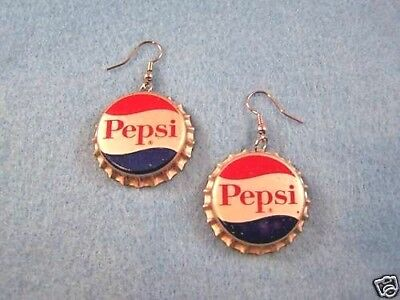 Vintage Soda Caps Soda Pop Pepsi Cola Bottle Cap Earrings Caps