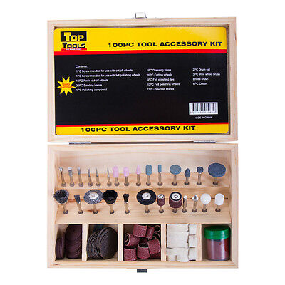 "100 Piece Rotary Tool Accessory Set Kit Dremel 1/8"" Shaft"