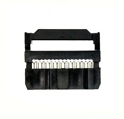 10pc 2x8P 2x8 16P 2.54x2.54mm IDC Cable Plug Connector with Strain Relief 280-16