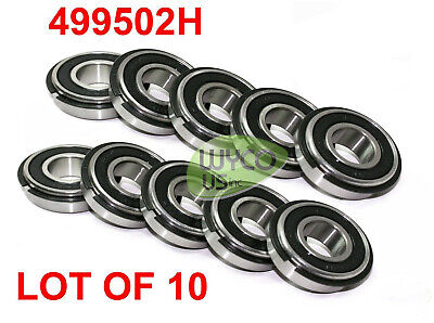 "TEN 499502H SEALED WHEEL BEARINGS W/ RETAINER RING, SIZE 5/8"" ID x 1-3/8"" ID"