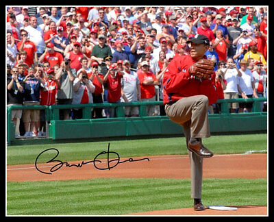 Barack Obama Autographed Repro Photo 8X10 Baseball First Pitch Nationals Park
