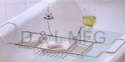 Clawfoot Tub Shelf Caddy  With Candle holder and Wine