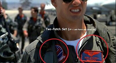 Top Gun Flight Suit Ssi Shoulder Sleeve Insignia Series: 2-Ssi - Maverick Set