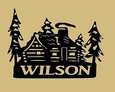 Cabin,Lodge,Northwoods,Metal Art,Gift.PERSONALIZED,Family Name, Welcome sign