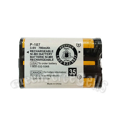 Cordless Phone Replacement Battery HHR-P107 3.6V 800mAh