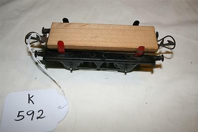 O gauge tinplate  clockwork hornby plank  wagon [k592]