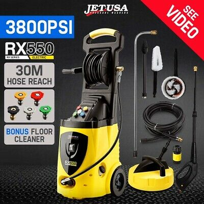 Jet-USA 3800 PSI High Pressure Water Cleaner Washer Electric Pump Hose Gurney