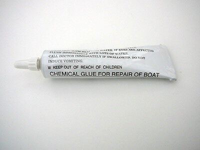 1 x 30 tube of heavy duty repair glue for PVC INFLATABLE BOATS or pvc water toys