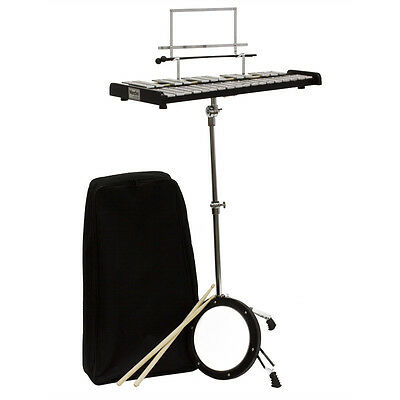 Mendini 30 Notes Glockenspiel Bell Kit with Practice Pad +Mallets+Sticks+Stand