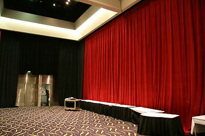 Fire Retardant velvet stage theatre curtains drapes 6m x 6m black RRP $2790 !!