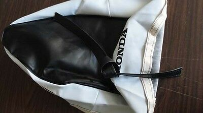 Honda long seat saddle White Black COVER C50 C100 C102 Stain PLEASE READ!!!!!