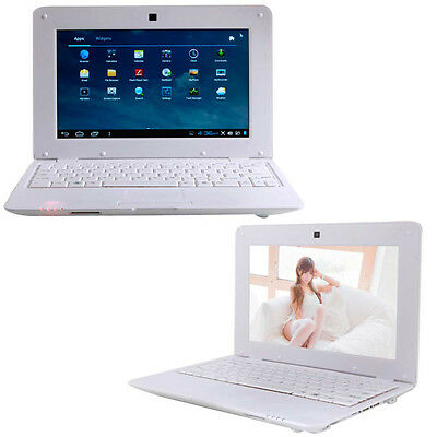 "New 10.1"" VIA8850 4GB Mini Notebook Netbook Android 4.0 1.5GHz Wifi Camera White"