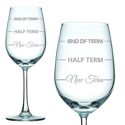 Engraved Glass Teachers Christmas Gift Wine Glass with Gift Box End of Term Gift