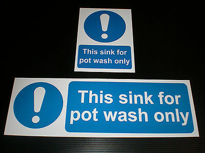 THIS SINK FOR POT WASH ONLY Sign Plastic Or Sticker Food Hygiene Restaurant