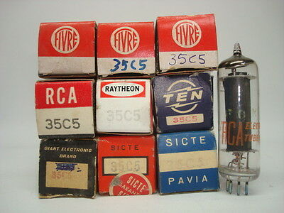 35C5 Tube = Hl94 (With 35 Voltsfilament Power) Hl94 Replacement.  Nos & Nib.