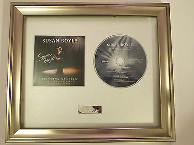 Susan Boyle - Standing Ovation Cd. Personally Signed/Autographed Framed Cd. Bgt