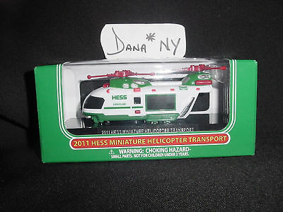 2011  MINI HESS HELICOPTERS FRESH OUT OF THE CASE MINT BOX