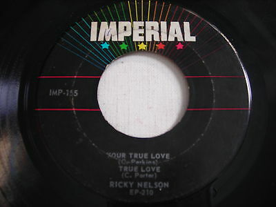 Ricky Nelson Your True Love 1957 45rpm EP