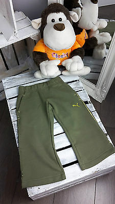 Kids Puma Shift Sweat Pants Open Burnt In Green Colour Size 1/2,5/6 Years.