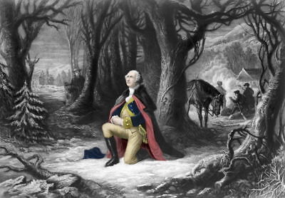13x18 Poster: General George Washington's Prayer at Valley Forge, 1777