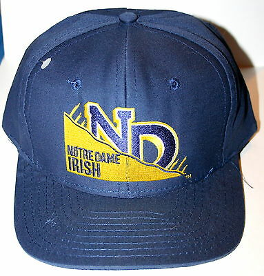 Vintage University Notre Dame Fighting Irish Baseball Cap Hat New 1990s 1 sz Fit