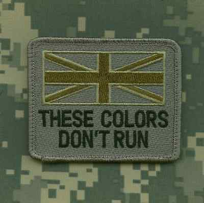 DESERT STORM GULF WAR TROPHY SSI SLEEVE INSIGNIA: UK FLAG These Color Won't Run