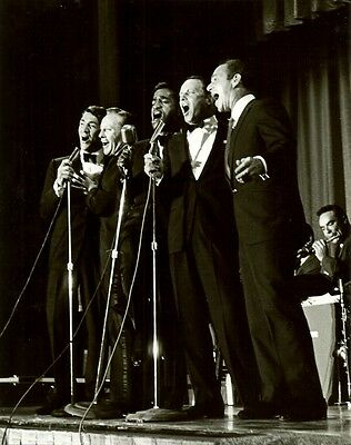 THE RAT PACK! Frank Sinatra/Crosby/Dean Martin/Sammy Davis Jr VINTAGE 8x10 PHOTO