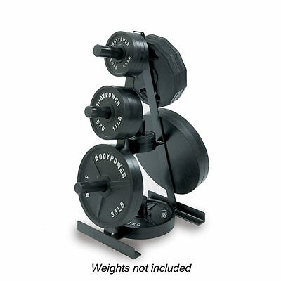 Body Power Olympic Weight Tree - Weight Plate Storage Holder Rack