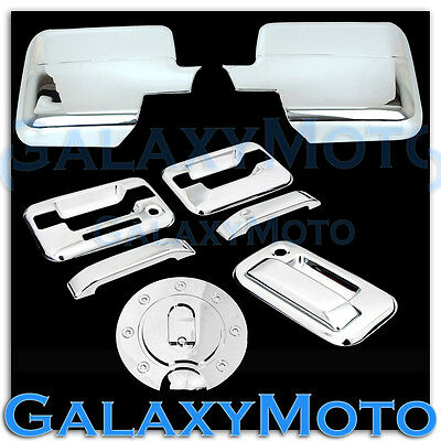 04-08 Ford F150 Chrome Mirror+2 Door Handle+keypad+no PSG KH+Tailgate+GAS Cover