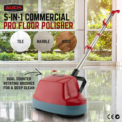 AUCH 5-in-1 Commercial Pro Floor Polisher Twinhead w/ 5 Stage Cleaning Pads