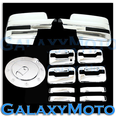 09-14 Ford F150 Chrome Mirror+2 Door Handle+no keypad+PSG keyhole+Tailgate Cover