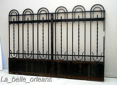 FRENCH ART-DECO WROUGHT IRON GATE . Must SEE!!!!