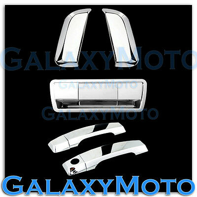 Chrome 4 Door+Rear Vertical Handle+Tailgate Cover for 04-12 Nissan Armada