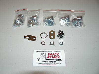 VENDSTAR 3000 #0191 (5) BACK DOOR LOCKS & (1) KEY - New / Free Ship!