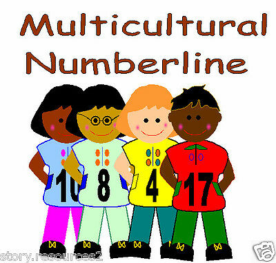Multicultural people Number line Primary teaching resources EYFS KS1 Resource cd