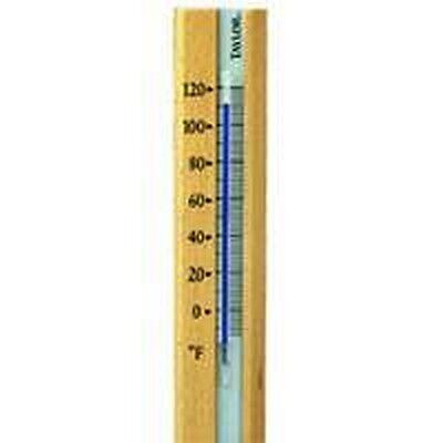 New Taylor 5141 Wooden Base Comfortmeter Indoor Outdoor Wall Thermometer
