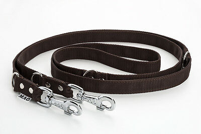 2.5m 8ft Police Style Strong Heavy Duty Training Dog Lead Double Ended K9 MAG