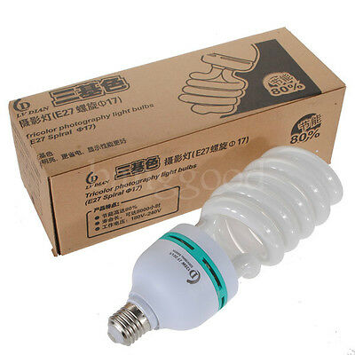 E27 220V 5500K 135W Photo Studio Bulb Video Photography Daylight Light Lamp CFL