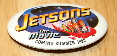 The Jetsons Cartoon Movie Collectors Button Pin 1990 VHS Film Release