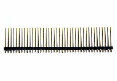 10pc Gold plated Single Row 1x40p 1x40 40P pitch= 2.54mm H=18mm Male Pin Header