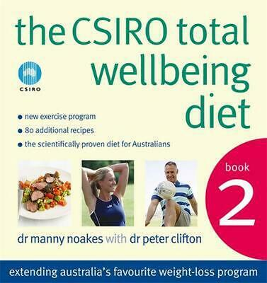 The CSIRO Total Wellbeing Diet Book 2 by Peter Clifton Paperback Book Free Shipp