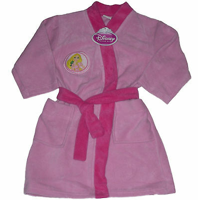 Girls Dressing Gown Robe Disney Princess Rapunzel 1-6 Years Old