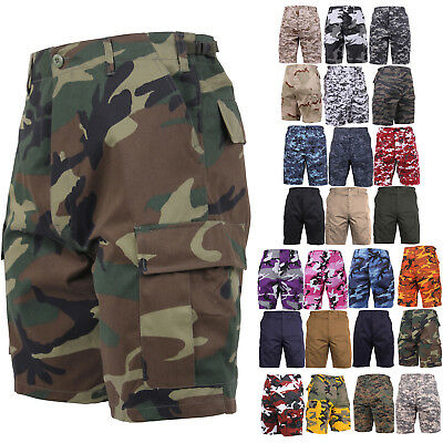 Camouflage Military BDU Combat Cargo Camo Army Shorts