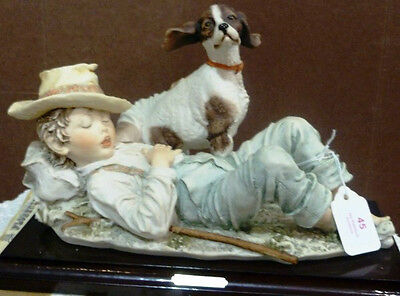 "Giuseppe Armani ""boy And Dog""  New In Box-Make Offer!"