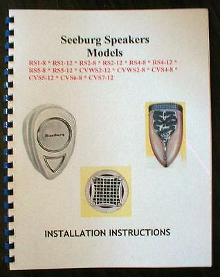 Seeburg Jukebox Speaker Manual
