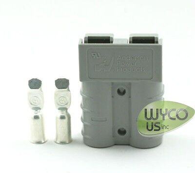 Gray Quick Connect/disconnect Connector, Anderson Sb50, 6Awg Power Poles, New