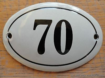 Small Antique Style Enamel Door Number 70 Sign Plaque House Number Furnituresign