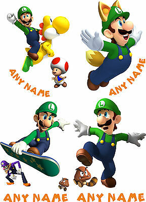 """SUPER MARIO /""""** YOSHI ** PERSONALISED A5 T SHIRT TRANSFER for White//Light cotton"""