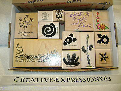 Lot Of Rubber Stamps Flowers Theme Excellent Condition Various Makers